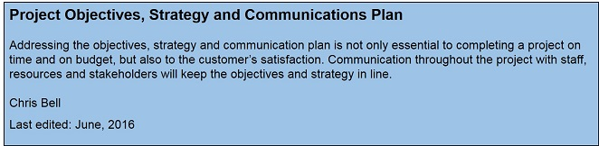 what are objectives of communication