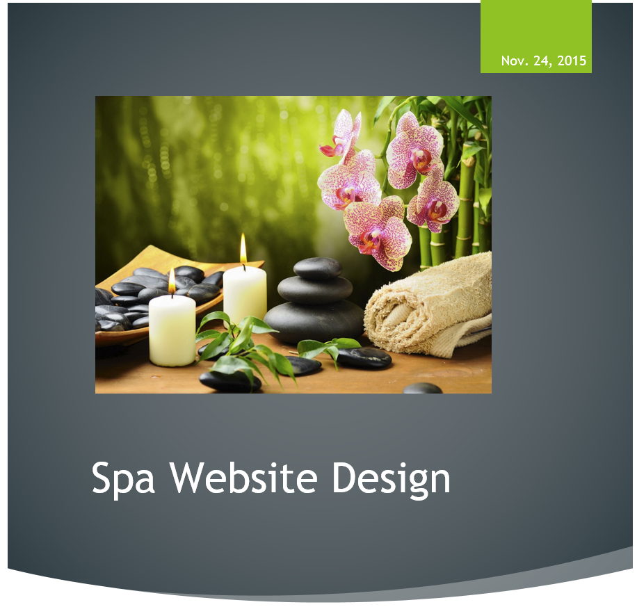 Spa Website Redesign Proposal