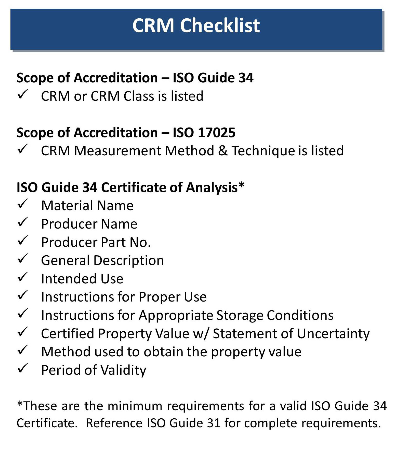 Systems Requirements Checklist