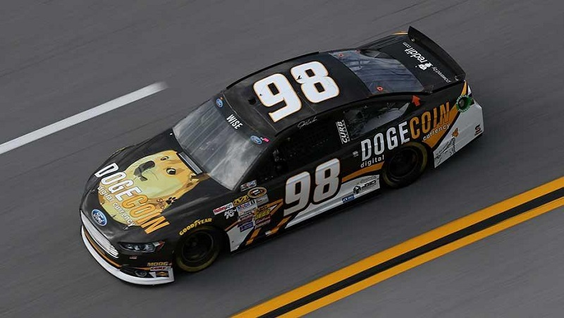 Dogecoin (DOGE) Raise Funds Nascar