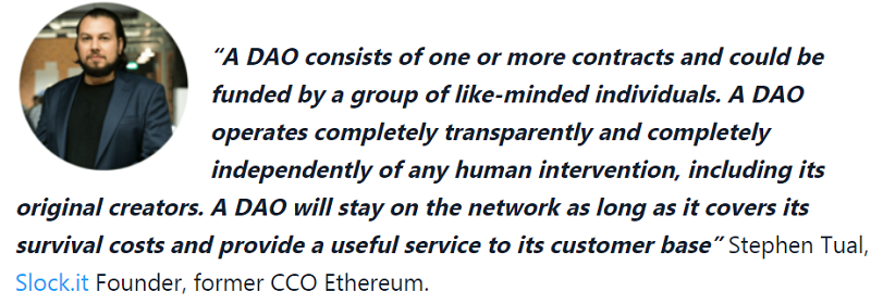 Ethereum (ETH) DAO Quote Stephen Taul