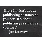 Blogging Quote - Chris Bell